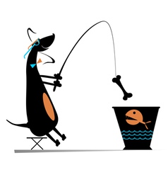 Funny fishing vector image