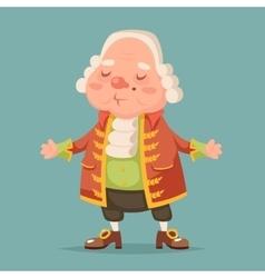 Noble medieval aristocrat mascot cartoon design vector