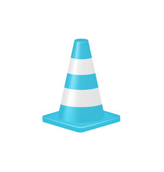 traffic cone in turquoise design vector image vector image