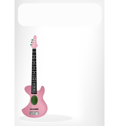 Two Beautiful Ukulele Guitar with A White Banner vector image vector image