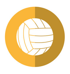 volleyball ball sport shadow vector image vector image