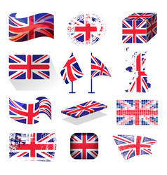 waving uk flag england british patriotic national vector image vector image