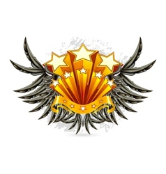 Black Wings Emblem vector image vector image