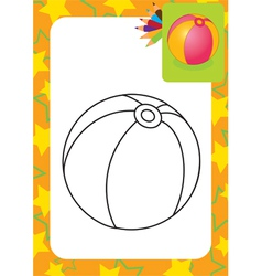 Coloring page Toy ball vector image vector image