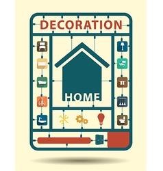 Furniture flat icons home decoration idea concept vector image