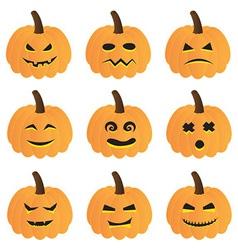 Halloween Pumpkins Collection vector image vector image