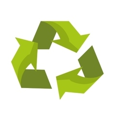 Isolated eco recycle sign design vector
