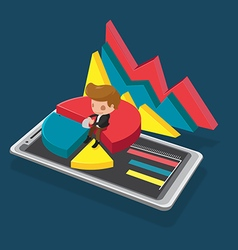 Smartphone Mobile Business Report Analysis vector image