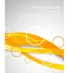 Abstract orange brochure vector image vector image