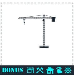 Building crane icon flat vector image