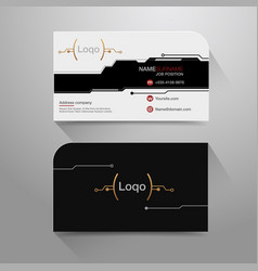 business name card digital vector image vector image