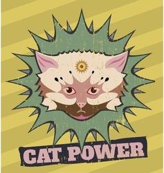 Cat power vector image vector image