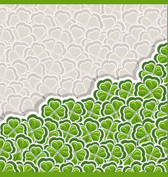 clover pattern for st patricks day vector image vector image