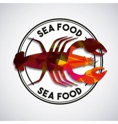 Delicious seafood lobster animal vector