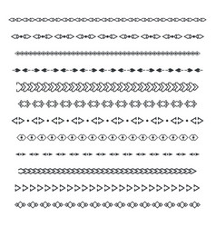 Dividers set isolated vector