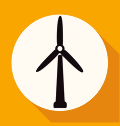 icon fan on white circle with a long shadow vector image