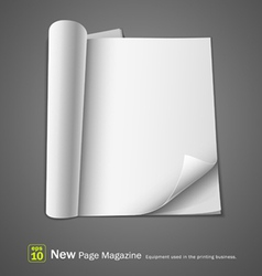 open new page magazine vector image
