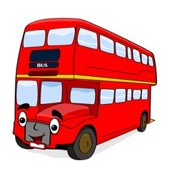 Smiling red bus vector image vector image