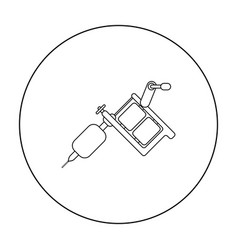 tattoo machine icon outline single tattoo icon vector image vector image