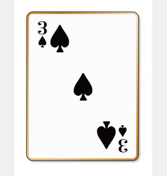 three spades vector image