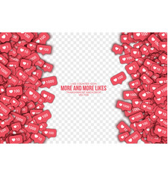 3d like counter icons abstract background vector image vector image