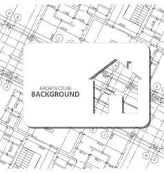 Black architecture background vector image