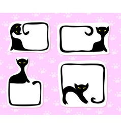cat stickers vector image