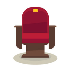 cinema or theatre chair with velvet lining vector image