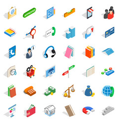 Crew icons set isometric style vector