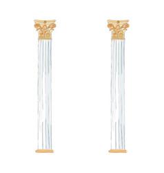 greek doodle doric ionic corinthian columns vector image