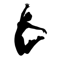 High quality original girl gymnastic doing jump vector image