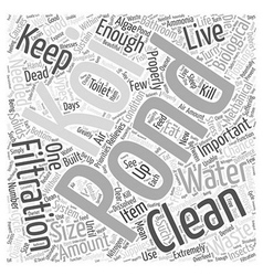 How to Keep Your Pond In Good Conditionwps Word vector image vector image