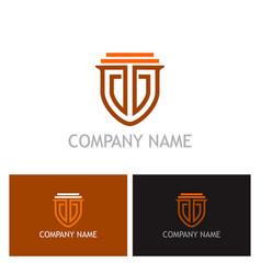Shield guarantee secure logo vector
