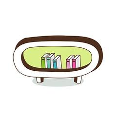 A bookshelf vector