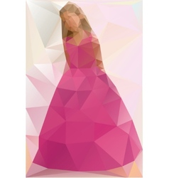 A Girl in a dress Triangle style vector