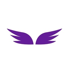 A pair of violet wings icon simple style vector image