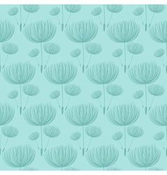 Abstract fluffy dandelion flower seamless pattern vector