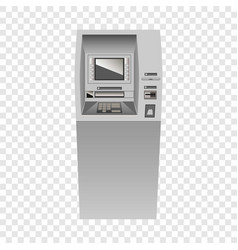 atm mockup realistic style vector image