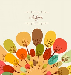 Autumn background with trees vector