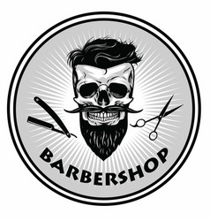 Barbershop barber logo template retro vector