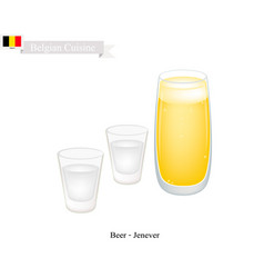 Beer and jenever the most popular drink in belgiu vector