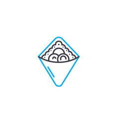 berry pie linear icon concept berry pie line vector image