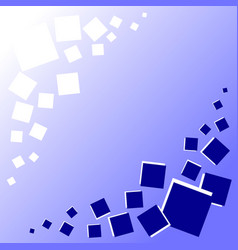 blue background with blue and white squares vector image