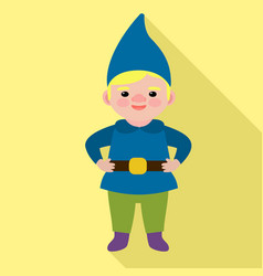 boy gnome icon flat style vector image