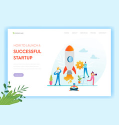 business startup landing page template investment vector image