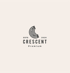 c letter moon crescent logo icon hipster retro vector image