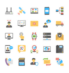 chat and social networking icons vector image