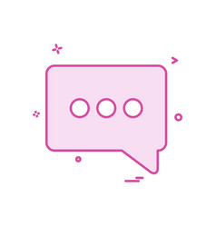 chat popup sms icon design vector image
