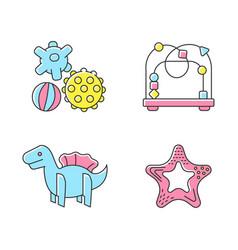 children sensory toys rgb color icons set vector image