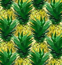 Close lowpoly pineapple pattern vector